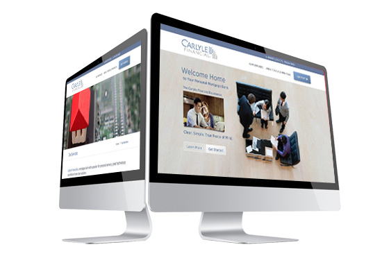 Carlyle financial home page