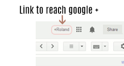 Google plus with + sign