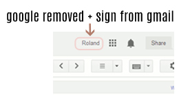 Google plus without + sign
