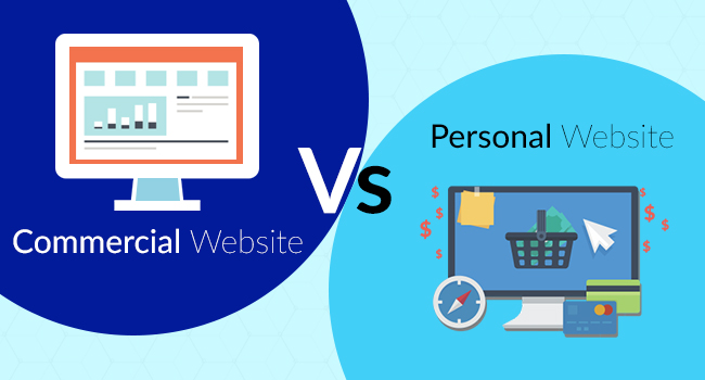 commercial website vs personal website